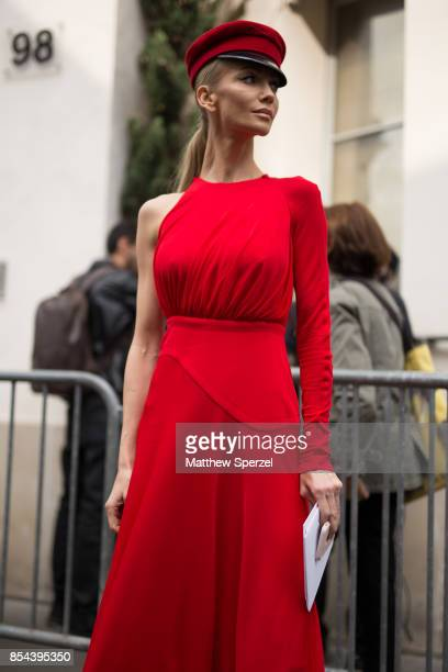 A guest is seen attending Christian Dior during Paris Fashion Week wearing Dior on September 26 2017 in Paris France