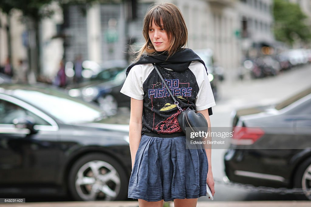 A guest is seen, before the Paul Smith show, during Paris Fashion Week Menswear Spring/summer 2017, on June 26, 2016 in Paris, France.