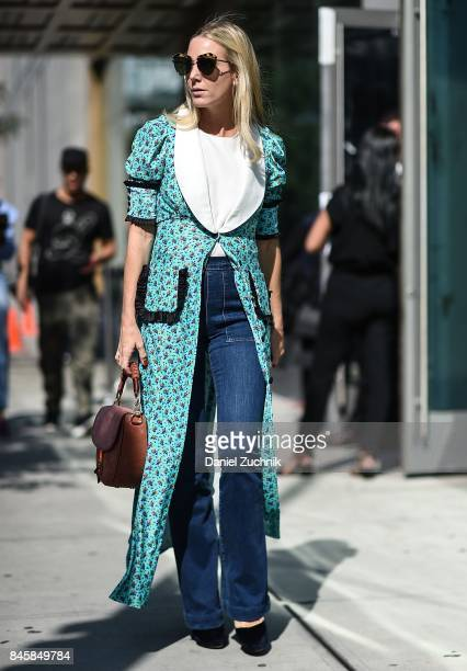 A guest is seen outside the 31 Phillip Lim show show during New York Fashion Week Women's S/S 2018 on September 11 2017 in New York City