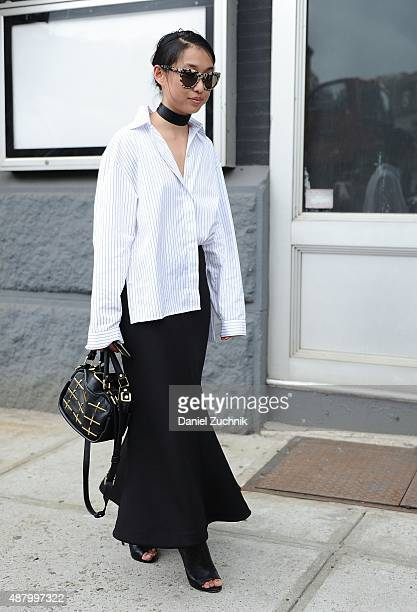 A guest is seen outside the Altuzarra show during New York Fashion Week 2016 on September 12 2015 in New York City