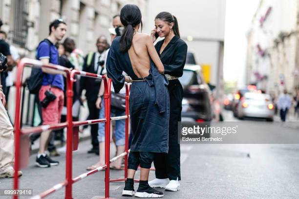 A guest is seen outside the OAMC show during Paris Fashion Week Menswear Spring/Summer 2018 on June 21 2017 in Paris France