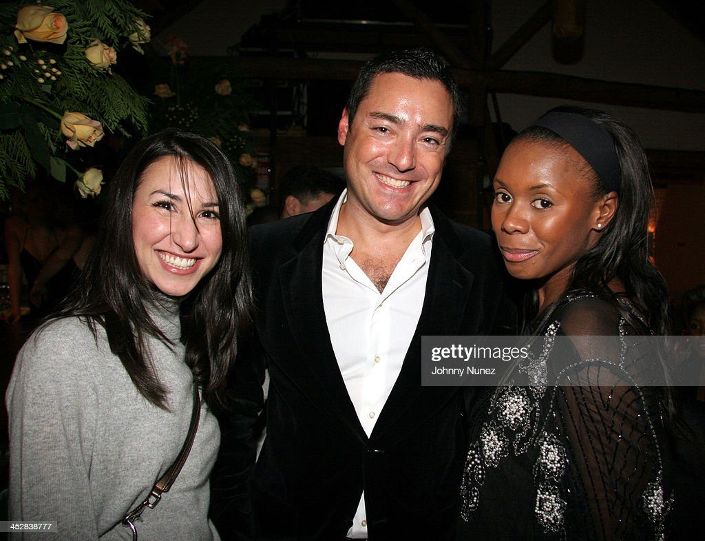 Guest James Patrick and Desire Ejoh during Naomi Campbell and Giuseppe Cipriani Holiday Party December 5 2005 at Cipriani in New York New York United...