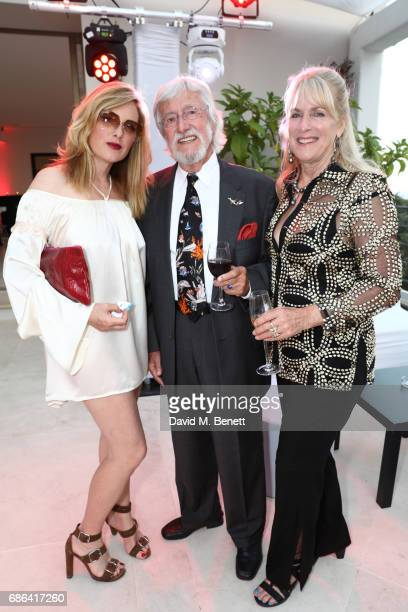 guest JeanMichel Cousteau and Nancy Marr attend a dinner hosted by Jamie Reuben Michael Kives with Arnold Schwarzenegger to celebrate JeanMichel...