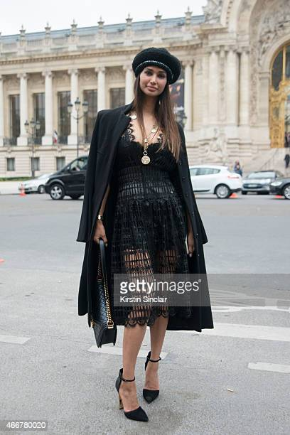 Guest Jenny Ali wears all Chanel on day 8 of Paris Collections Women on March 10 2015 in Paris France