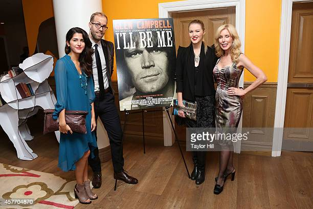 A guest Jesse Olsen Ashley Campbell and Kim Campbell attend the 'Glen CampbellI'll Be Me' New York Premiere at Crosby Street Hotel on October 22 2014...