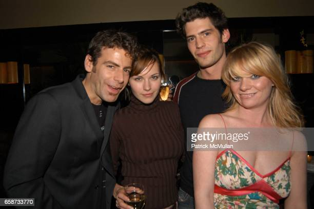 Guest Jill Flint David Lopes and Jennifer Talbott attend Diane von Furstenberg After Party at Indochine on February 8 2004 in New York City