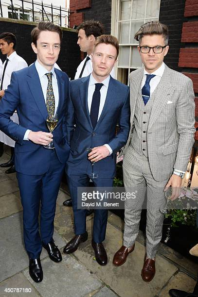 Guest Joe Dempsie and Darren Kennedy attend the GQ Style Party at Dunhill on June 17 2014 in London England