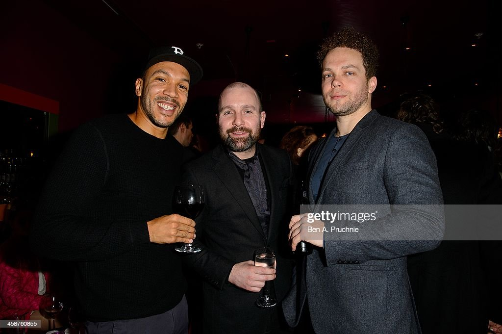 Guest, Johnny Harris and Ben Pugh attend the August: Osage County drinks & screening at Soho Hotel on December 21, 2013 in London, England.