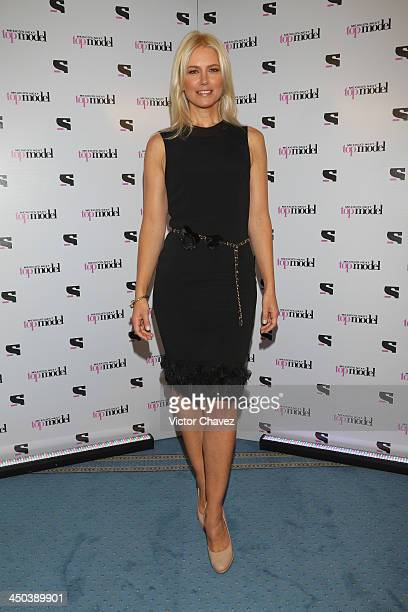 Guest judge Valeria Mazza attends the Mexico's Next Top Model Season 4 photocall at Four Seasons Hotel on November 18 2013 in Mexico City Mexico