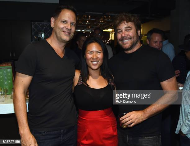 Guest Julianna Lee and Gary Kraen attend The Other Nashville Society Launch Party on July 27 2017 in Nashville Tennessee