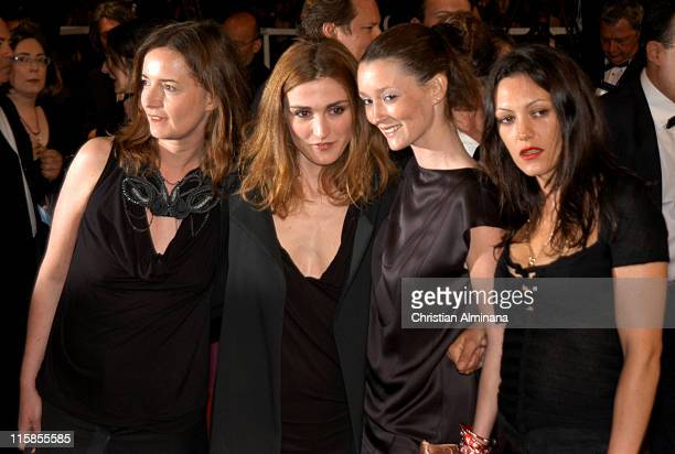 Guest Julie Gayet Audrey Marnay and guest during 2005 Cannes Film Festival 'Last Days' Premiere at Palais des Festival in Cannes France