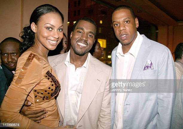 Guest Kanye West and JayZ during Kanye West 28th Birthday Party Presented by Urban Concepts at Bulgari Store 57th and 5th in New York City New York...