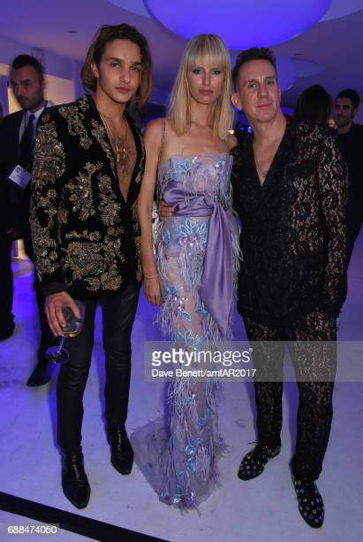 Guest Karolina Kurkova and Jeremy Scott attend the amfAR Gala Cannes 2017 at Hotel du CapEdenRoc on May 25 2017 in Cap d'Antibes France