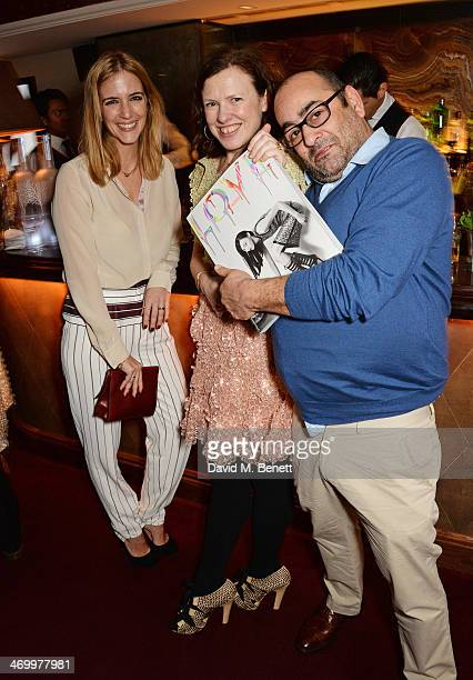 Guest Katie Grand and Ezra Petronio attend the launch of LOVE special editions at George on February 17 2014 in London England