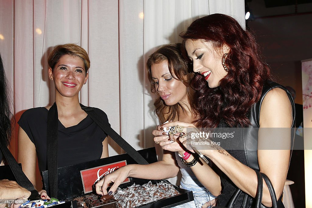 Guest Kerstin Linnartz and Fiona Erdmann attend the 9th Victress Awards Gala at andels Hotel Berlin on April 28 2014 in Berlin Germany
