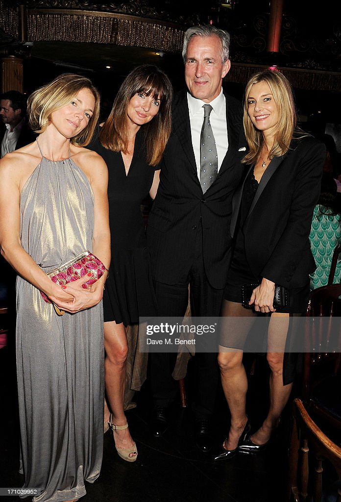 REQUIRED) (L to R) Guest, Lauren Gurvich, Jeremy King and Kim Hersov attend the Hoping Foundation's 'Rock On' benefit evening for Palestinian refugee children at Cafe de Paris on June 20, 2013 in London, England.