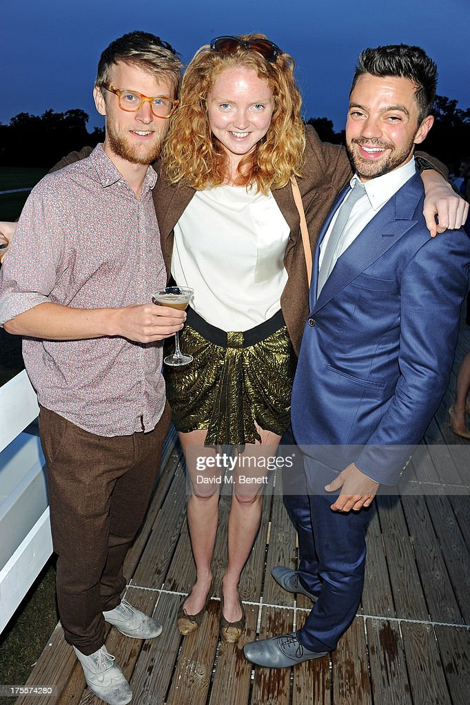 Guest, Lily Cole and Dominic Cooper attend day 2 of the Audi Polo Challenge at Coworth Park Polo Club on August 4, 2013 in Ascot, England.