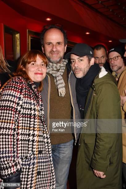 Guest Lionel Abelanski and Manu Payet attend 'Les Fooding 2018' Cocktail at Les Follies Pigalle 11 Place Pigalle on November 13 2017 in Paris France