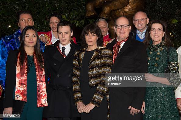 Guest Louis Ducruet Princess Stephanie of Monaco Prince Albert II of Monaco and Princess Caroline of Hanover attend the 40th International Circus...