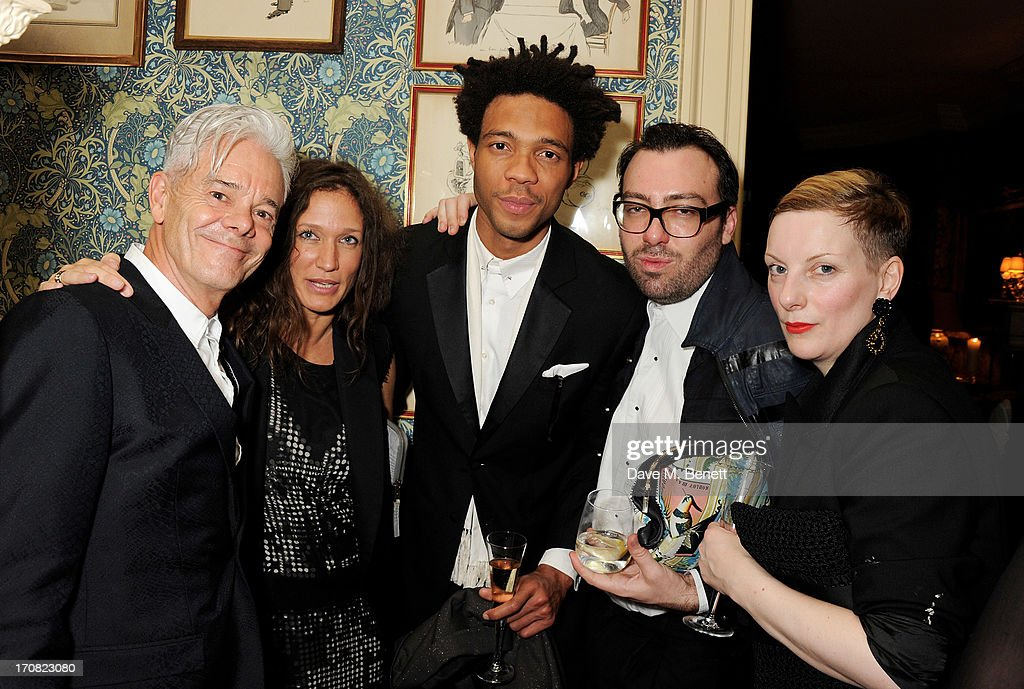 Guest Lulu Kennedy guest James Long and Lou Dalton attend the TOM FORD Mens Grooming Collection launch at Mark's Club on June 18 2013 in London...