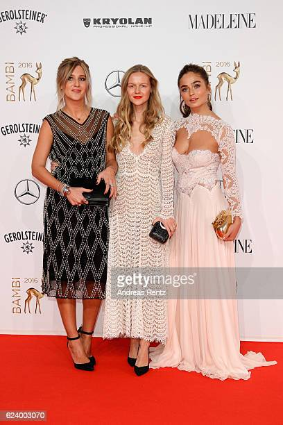 A guest Marie von Behrens and Sofia Tsakiridou arrive at the Bambi Awards 2016 at Stage Theater on November 17 2016 in Berlin Germany