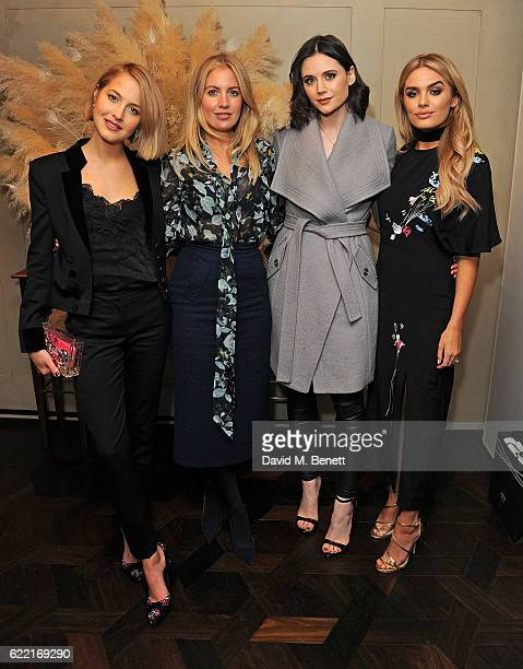 Guest Marissa Montgomery Lilah Parsons and Chloe Lloyd attend 5 Years of Gazelli SkinCare on November 10 2016 in London England