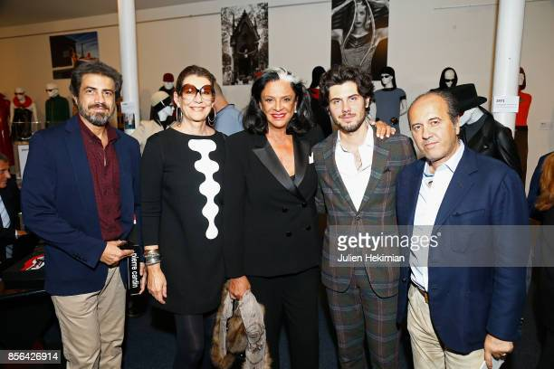 Guest Martine Assouline Betty Lagardere Alexandre Assouline and Prosper Assouline attend the 'Pierre Cardin' By JeanPascal Hesse Book Signing At...