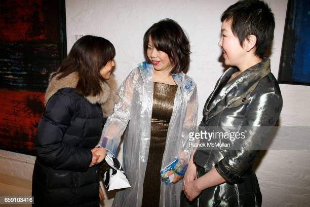 guest Masako Yuki and guest attend GALLERY GEN hosts an art opening for YOSHIAKI YUKI at OpenHouse on April 10 2009 in New York City