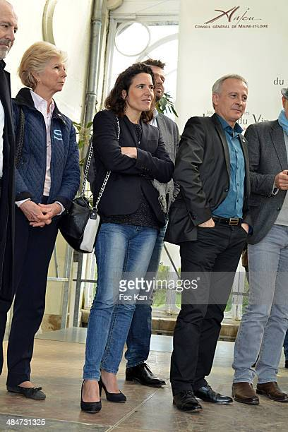 Guest Mazarine Pingeot and Bruno Quenioux attend the 'Journees Nationales du Livre et du Vin 2014' At Bouvet Ladurey Cellars on April 13 2014 in...