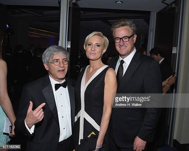 A guest Mika Brzezinski and Joe Scarborough attend the Yahoo News/ABC News White House Correspondents' dinner reception preparty at the Washington...