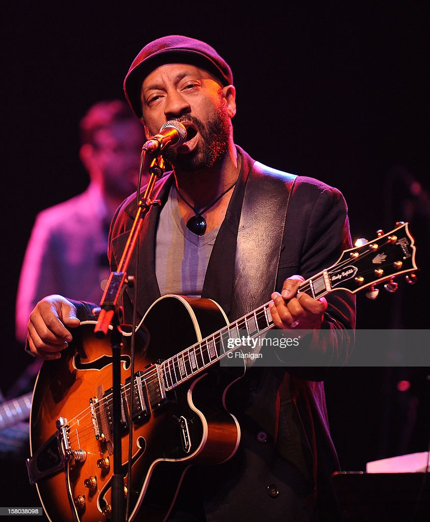 A guest musician at The Last Waltz Tribute Concert at The Warfield Theater on November 24, 2012 in San Francisco, California.