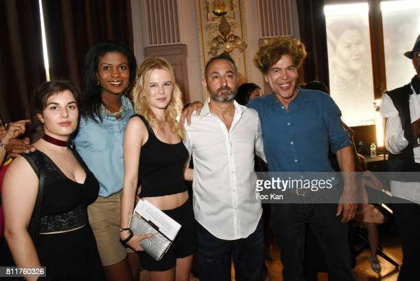 A guest Nathanaelle Audel Julie Jardon Dany Atrache and Igor Bogdanovattend the Dany Attrache Haute Couture Fall/Winter 20172018 show as part of...