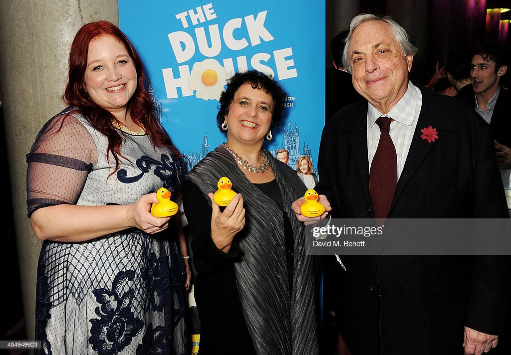 Guest, Nica Burns and Max Weitzenhoffer attend an after party celebrating the press night performance of 'The Duck House' at The Trafalgar Hotel on December 10, 2013 in London, England.
