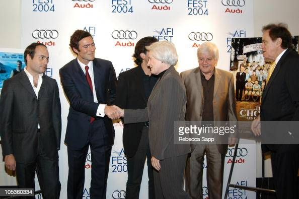 Guest Nicolas Mauvernay producer of 'The Chorus' Christophe Barratier director of 'The Chorus' Jean Firstenberg CEO of AFI Jacques Perrin producer of...