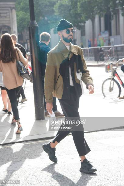 A guest on day 1 of London Collections Men on June 9 2017 in Paris France
