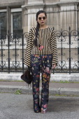 A guest on day 2 of Paris Collections Women on February 26 2014 in Paris France