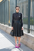 Guest on day 4 of Paris Collections Women on September 26 2014 in Paris France