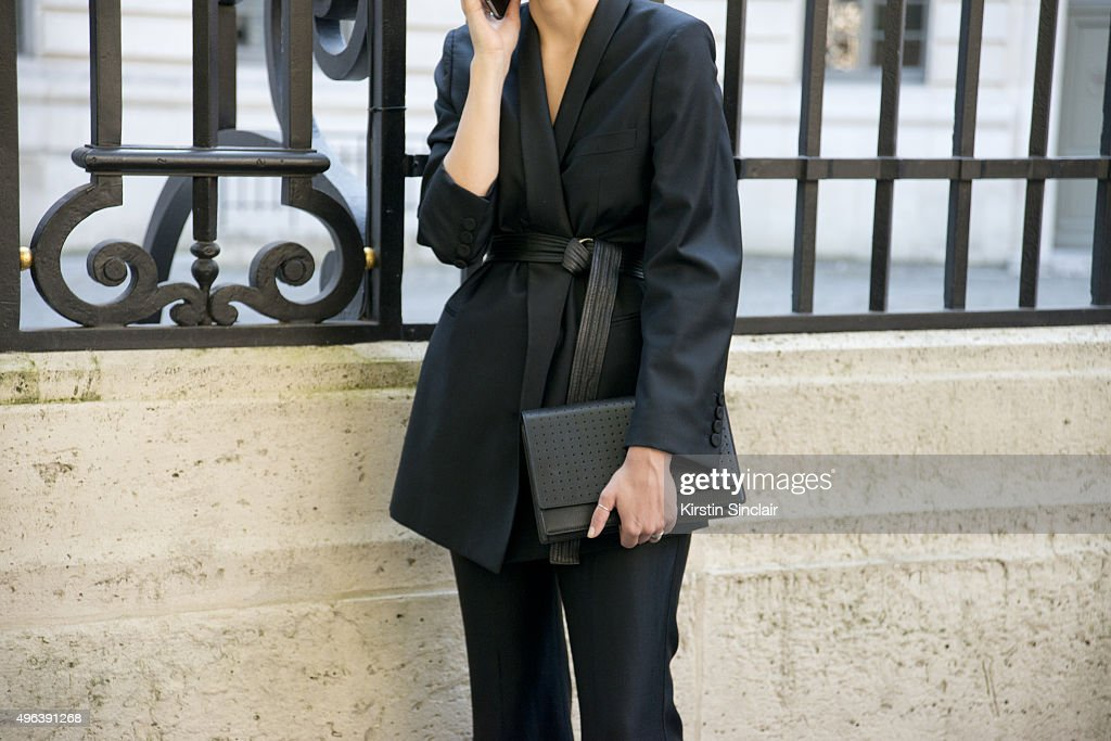 Guest on day 5 during Paris Fashion Week Spring/Summer 2016/17 on October 3 2015 in Paris France