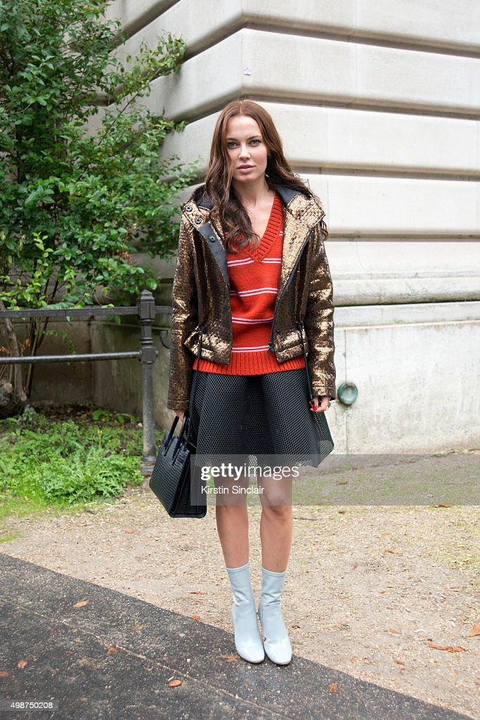 Guest on day 7 during Paris Fashion Week Spring/Summer 2016/17 on October 5 2015 in Paris France