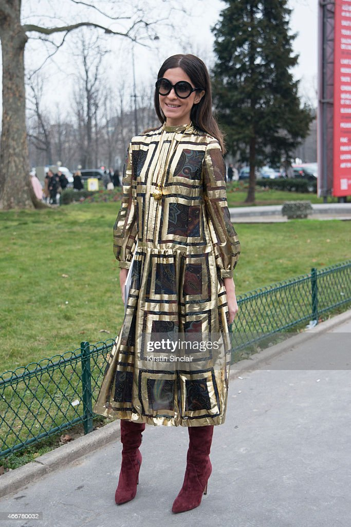 A guest on day 8 of Paris Collections Women on March 10 2015 in Paris France