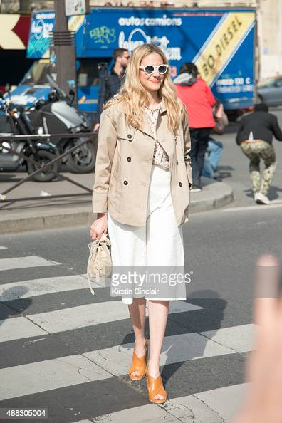 A guest on day 9 of Paris Collections Women on March 11 2015 in Paris France