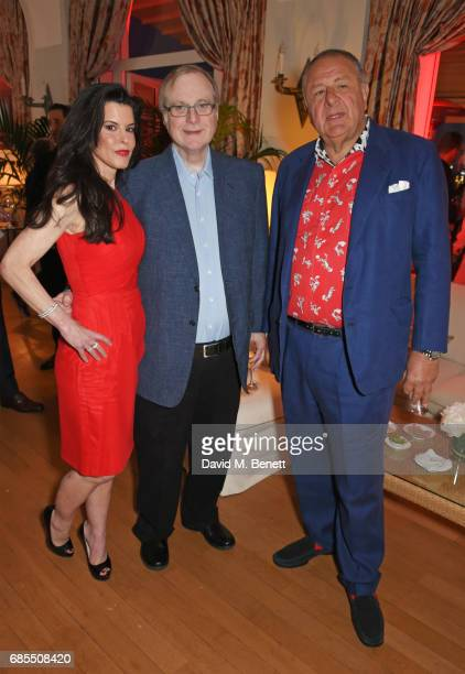 Guest Paul Allen and Jean Pigozzi attend The 9th Annual Filmmakers Dinner hosted by Charles Finch and JaegerLeCoultre at Hotel du CapEdenRoc on May...