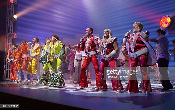 Guest performers Anneka Rice Penny Smith and Vanessa Feltz perform with cast members Neil Roberts Kim Ismay Gary Milner Sally Ann Triplett James...