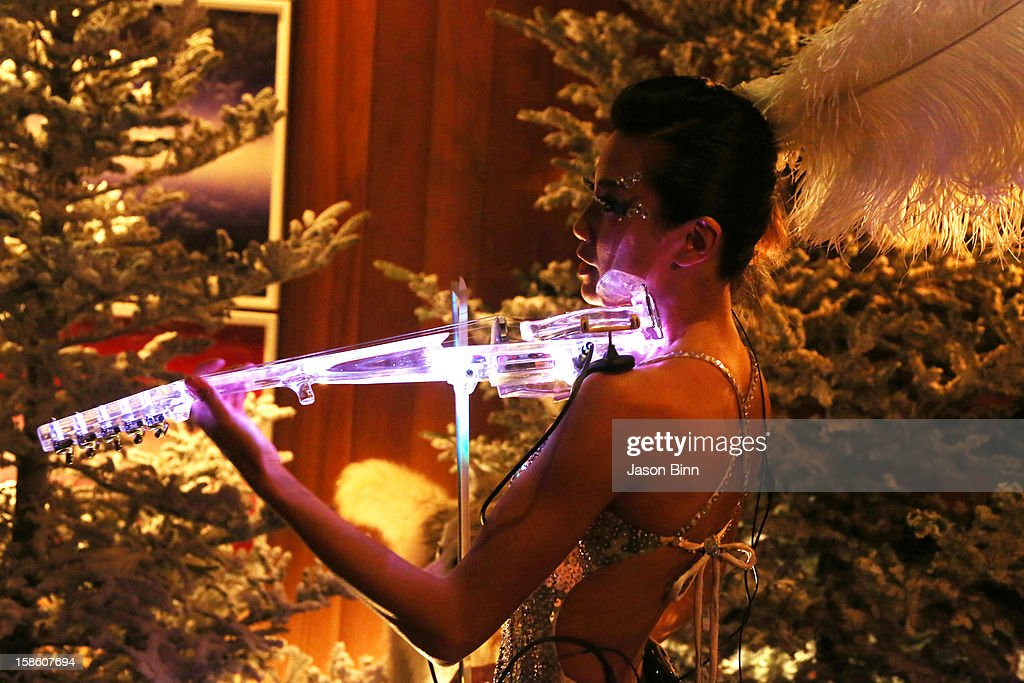 A guest performs at the TOWN Residential's holiday party in celebration of its two year anniversary at the Dream Downtown on December 10, 2012 in New York City.