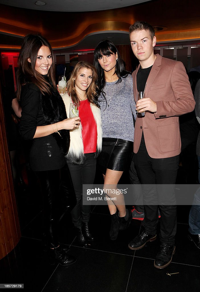 Guest, Pips Taylor, Lilah Parsons and Will Poulter attend the launch of the W Republic of Verbier takeover at W London - Leicester Square on October 24, 2013 in London, England.