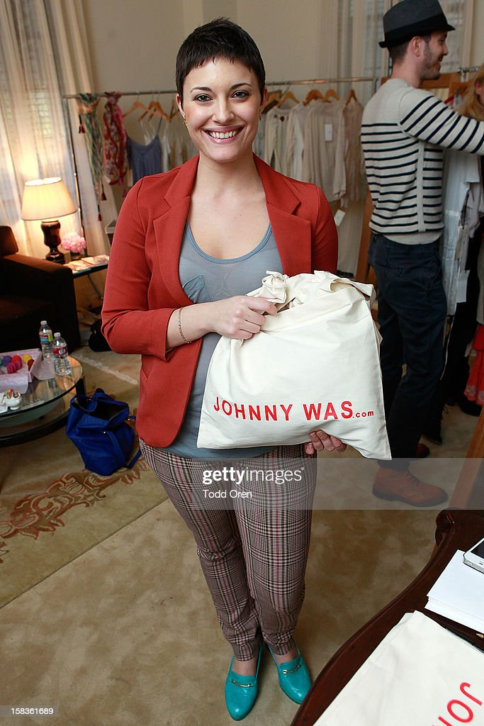 Romina Rosenow poses at the Johnny Was Holiday Gifting Suite at Chateau Marmont on December 13, 2012 in Los Angeles, California.