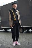 Street Style -Paris Fashion Week - Menswear Fall Winter...