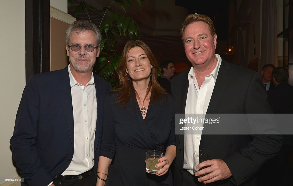 Guest, President of Worldwide Music for Sony Pictures Entertainment Lia Vollack and President of Music for Paramount Pictures Randy Spendlove attend the Friends N Family Dinner Hosted by Mark Beaven and Andy Kipnes at Scarpetta on February 7, 2013 in Beverly Hills, California.
