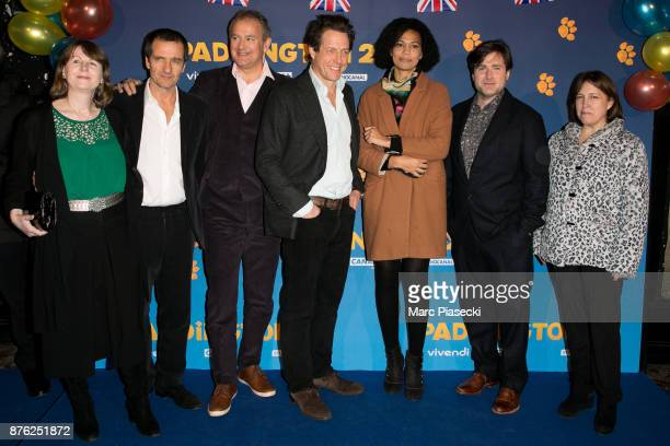 A guest Producer David Heyman actors Hugh Bonneville and Hugh Grant a guest director Paul King and a guest attend the 'Paddington II' Premiere at...