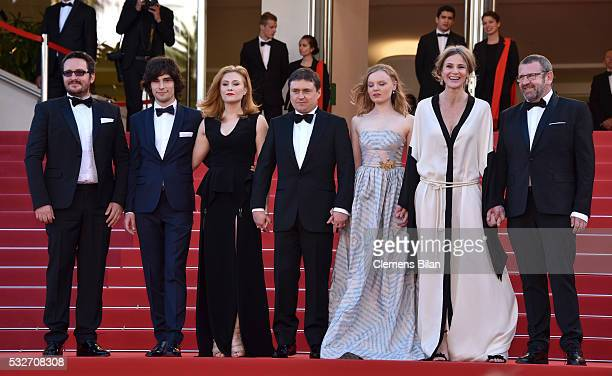 Guest Rares Andrici Malina Manovici Cristian Mungiu Maria Dragus Adrian Titieni and Lia Bugnar attends the 'Graduation ' Premiere during the 69th...